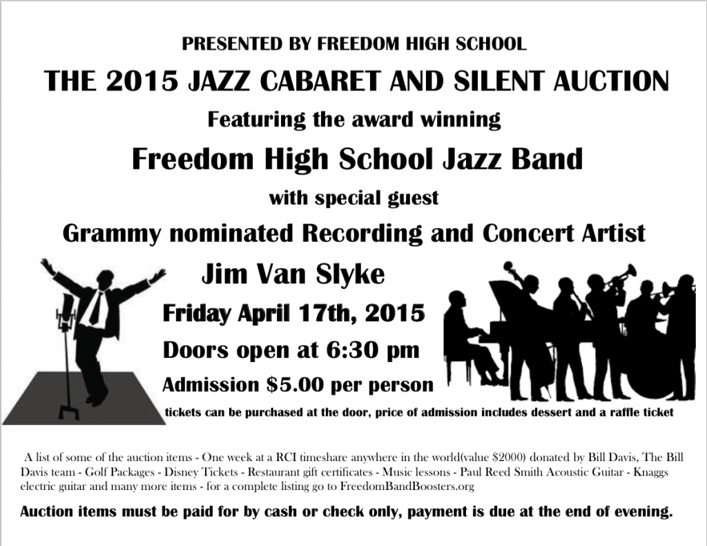 The 2015 Jazz Cabaret is Here! » Freedom Band Boosters